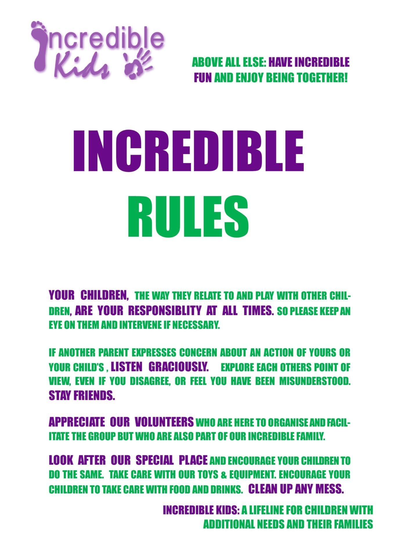 Incredible Rules IK A3